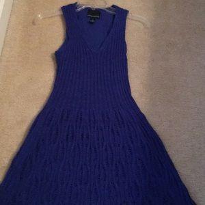 Knit dress royal blue